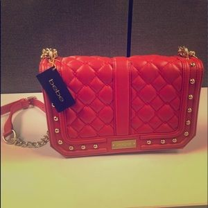 Bebe Quilted Purse NWT Red